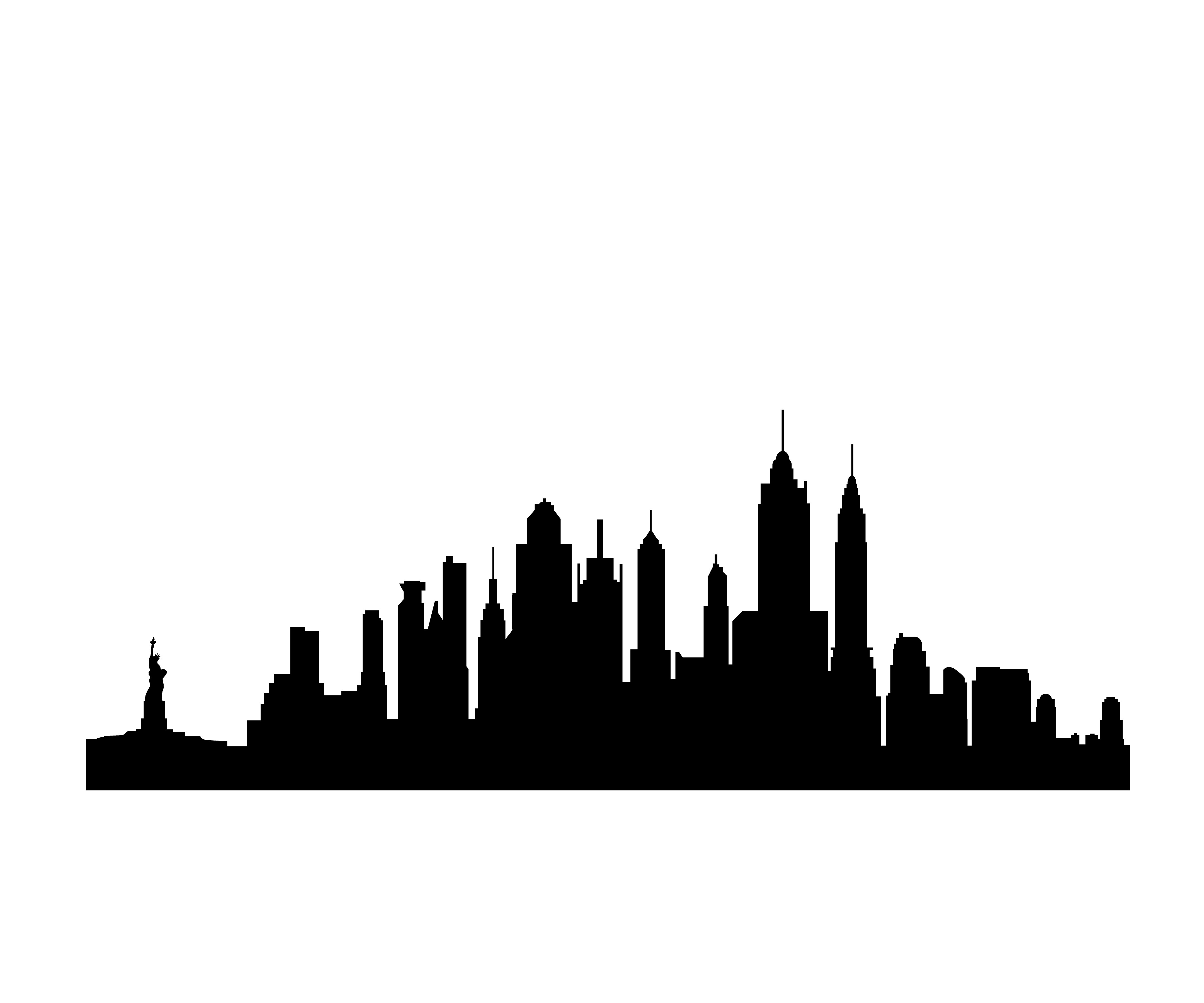 11 City Skyline Vector Clip Art Images