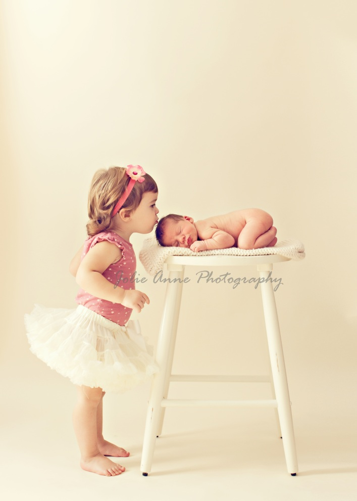 Newborn Shoot with Siblings