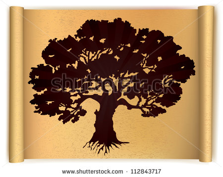 Old Oak Tree Clip Art