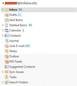 Outlook 2013 Folder Icons