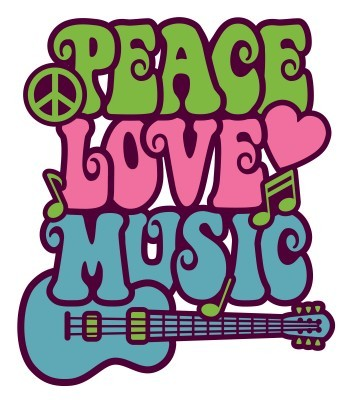 Peace Love Music Clip Art