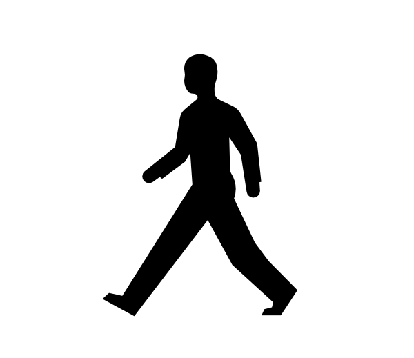 16 Walking Human Outline Vector Images