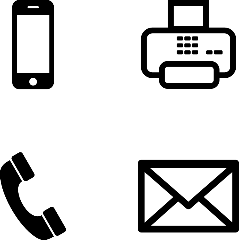 Phone Fax Icon Email Signature