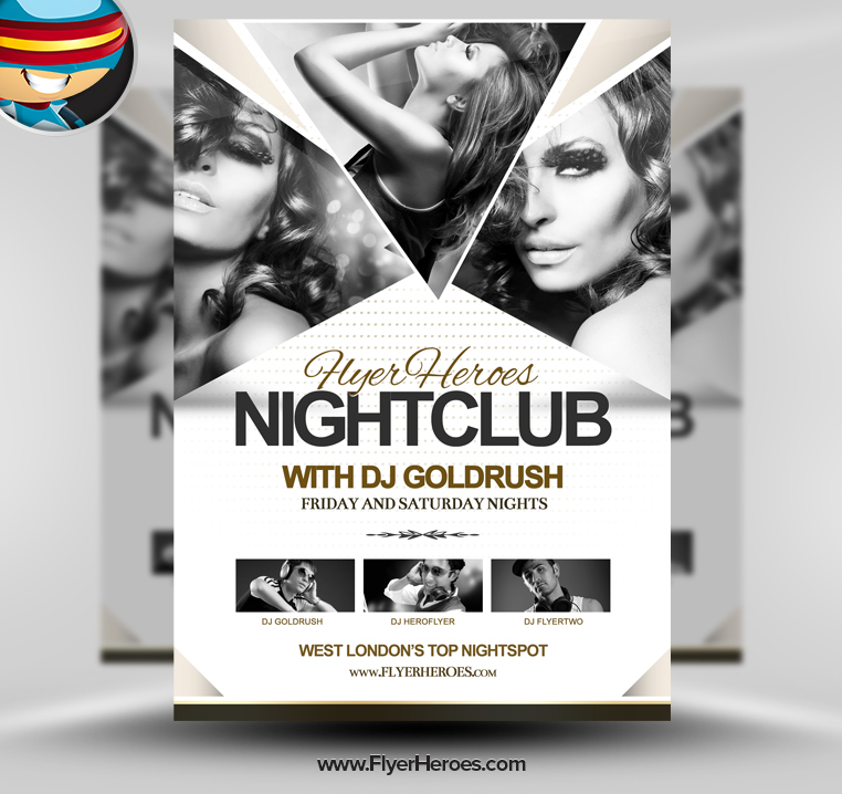 template images free club flyer psd