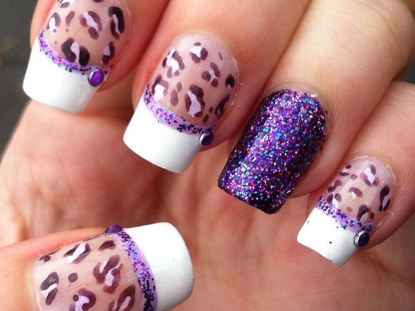 13 Purple Leopard Nail Design Images