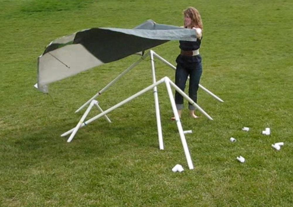 Pvc pipe tent designs images playhouse plans