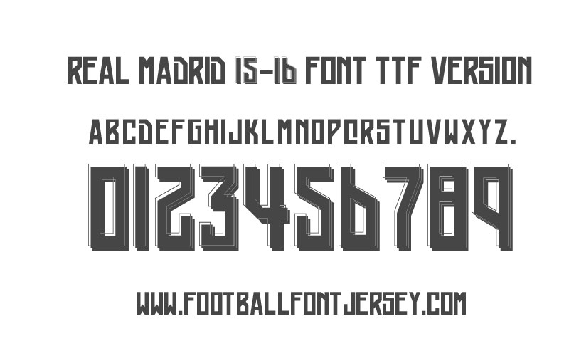 16 2016 Real Madrid Font Images