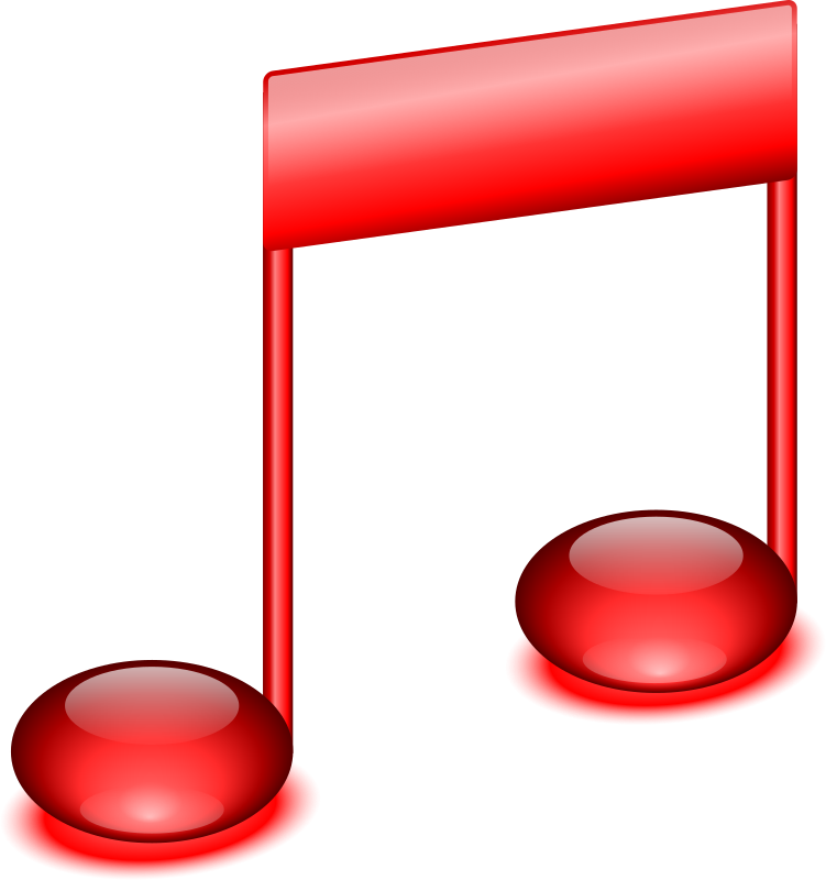 Red Music Notes Clip Art