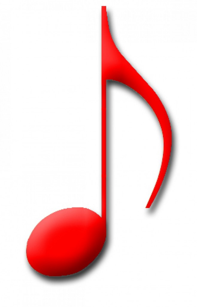 6 Red Music Note Icon Images