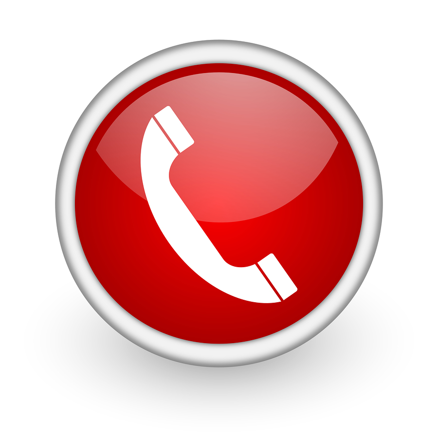 11 Red Phone Icon Contact Vector Images