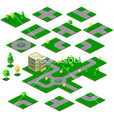 Road Map Vector Art