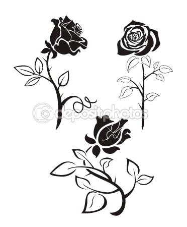 Rose vector outline