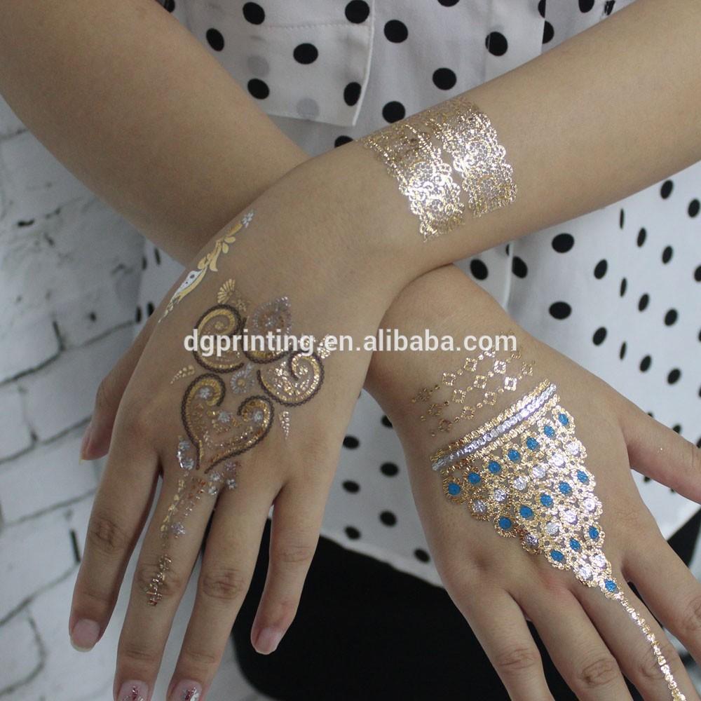 Silver Gold Henna Tattoo