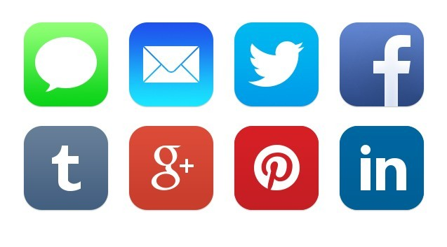 Social Media Icons Facebook Twitter Email