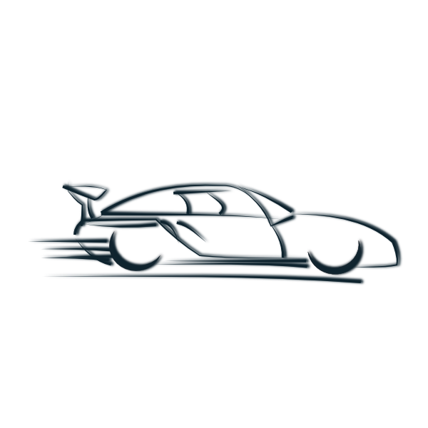 Speeding Car Clip Art