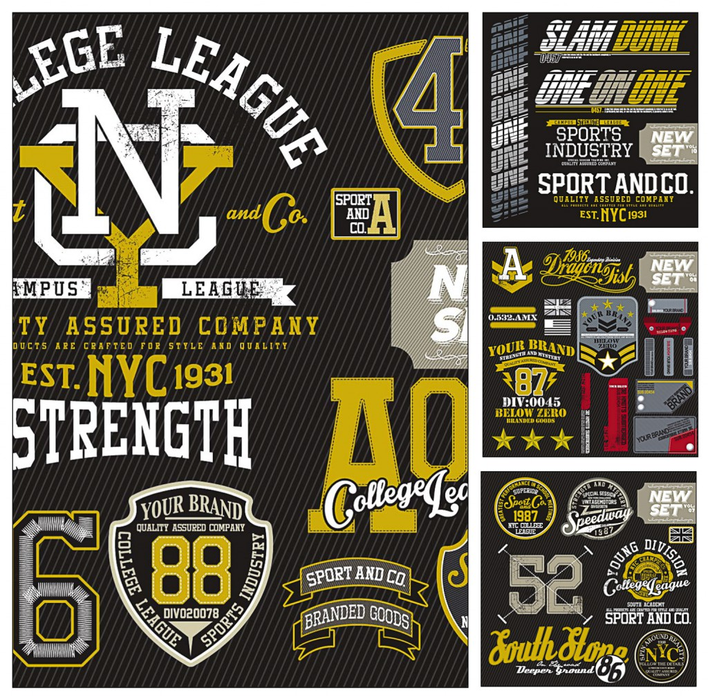 Sports T-Shirt Logo Templates