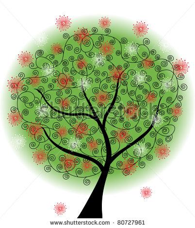 Summer Nature Tree Vector