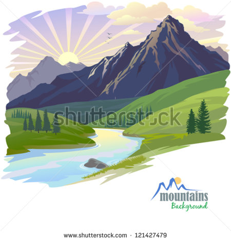 10 Vector Sunrise On Bottom Images