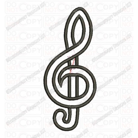 15 Clef Music Note Applique Design Images
