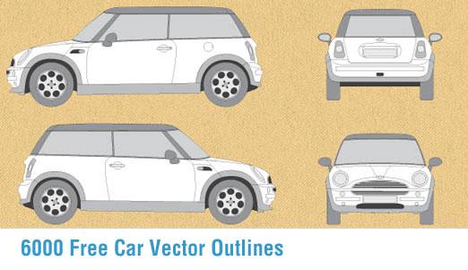 Vector Car Outline Templates
