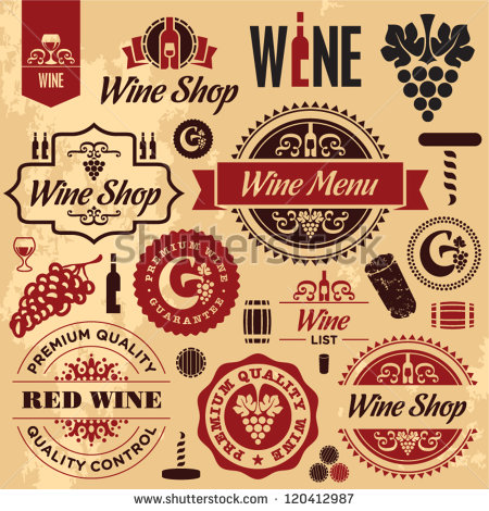 Vintage Wine Labels Art