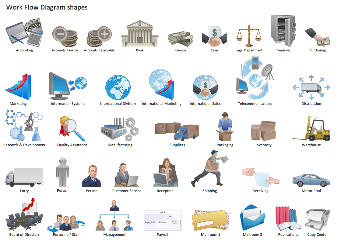 Visio workflow icons images free people shapes