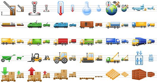 Warehouse Delivery Truck Icon