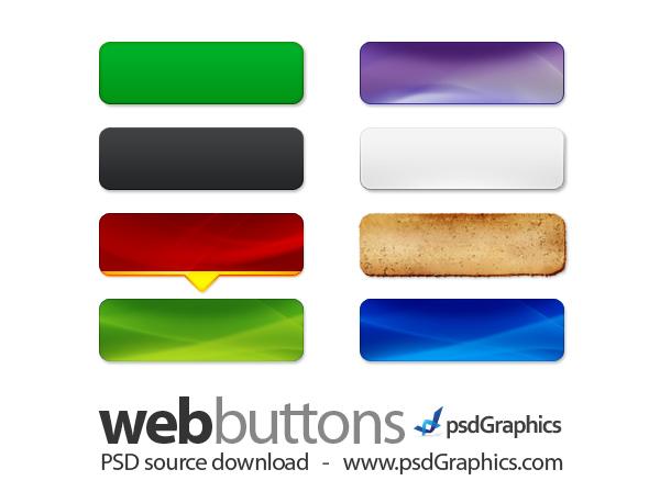 9 Web Buttons Photoshop Images