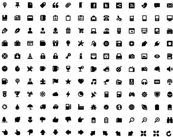 14 Web Icons PSD Free Download Images