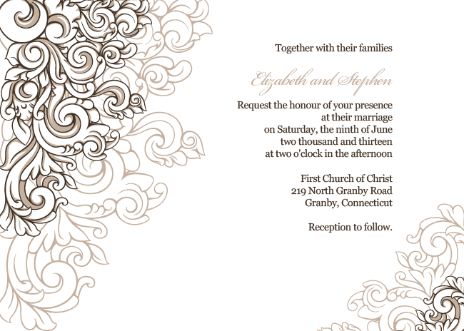 Wedding Invitation Border Templates