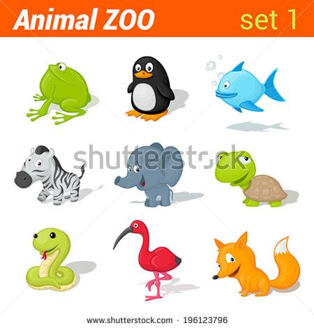 Zebra Animal Icon Set