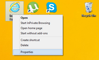 Add Internet Explorer Icon On Desktop