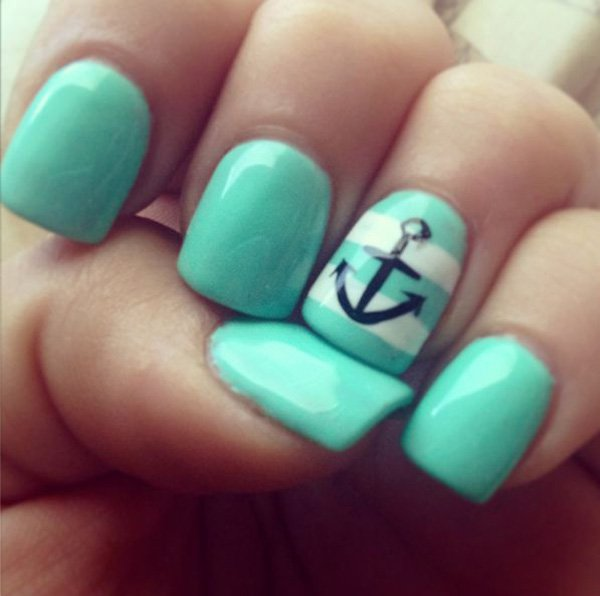 Anchor Nail Art Design