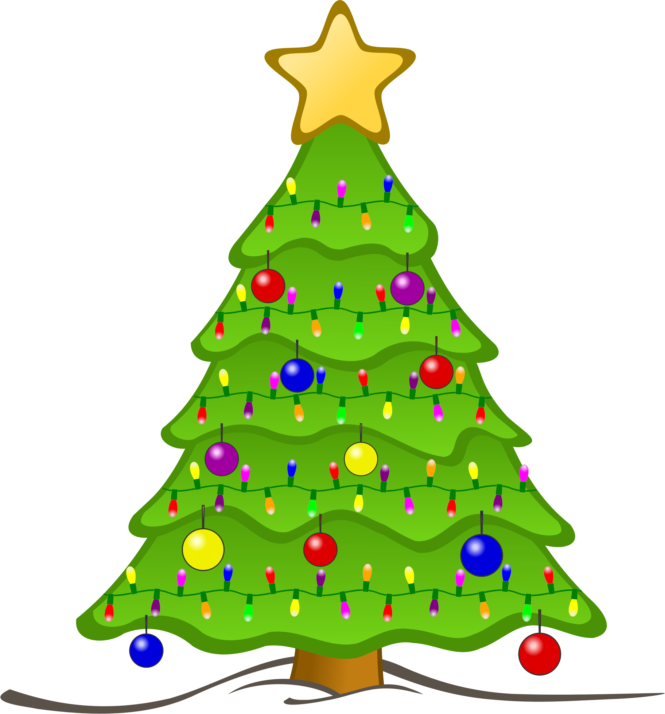 6 Animated Christmas Tree Graphic Images