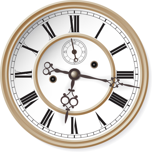 9 Clock Vector Free Download Images