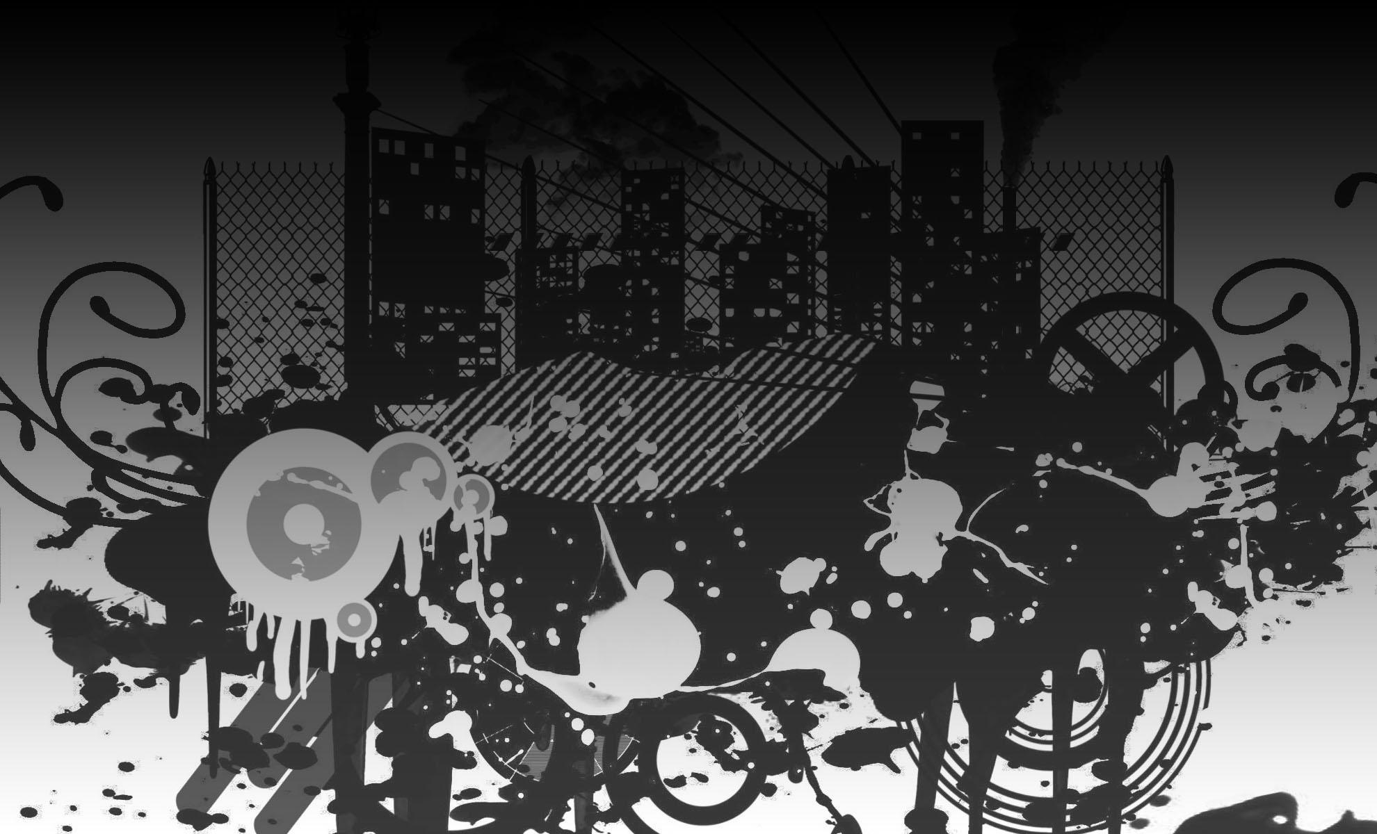 Background Black and White Art Designs