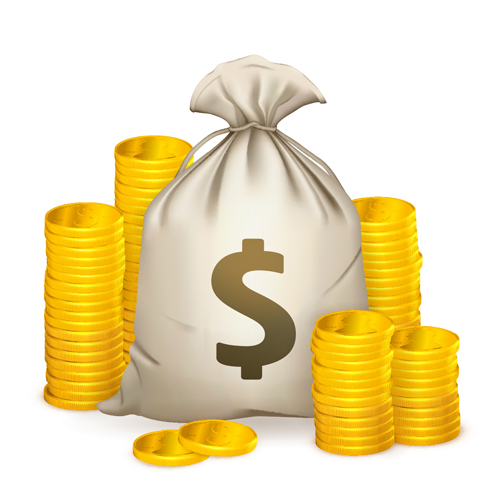 Bag of Money Vector Clip Art