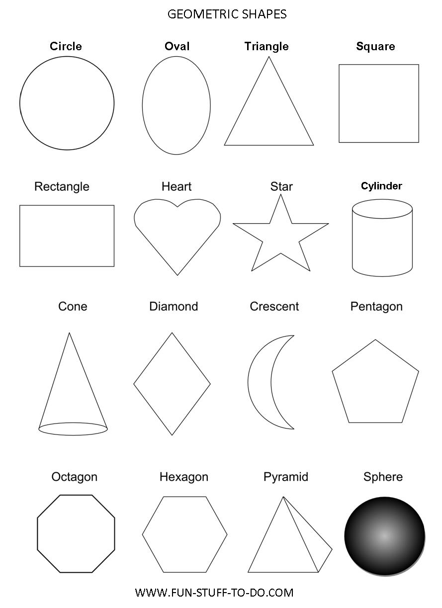 Abstract Shapes Coloring Pages : Colorful geometric shape template images