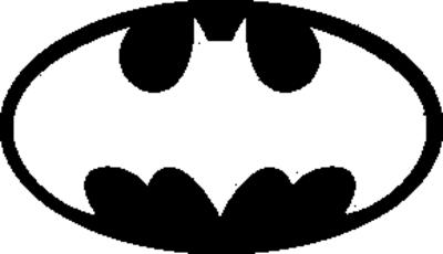 Batman Logo Black and White