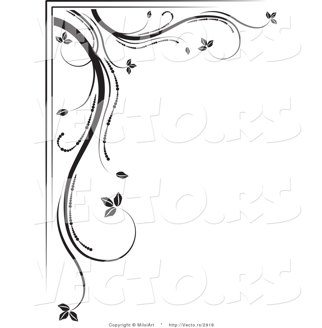 Black and White Corner Border Designs