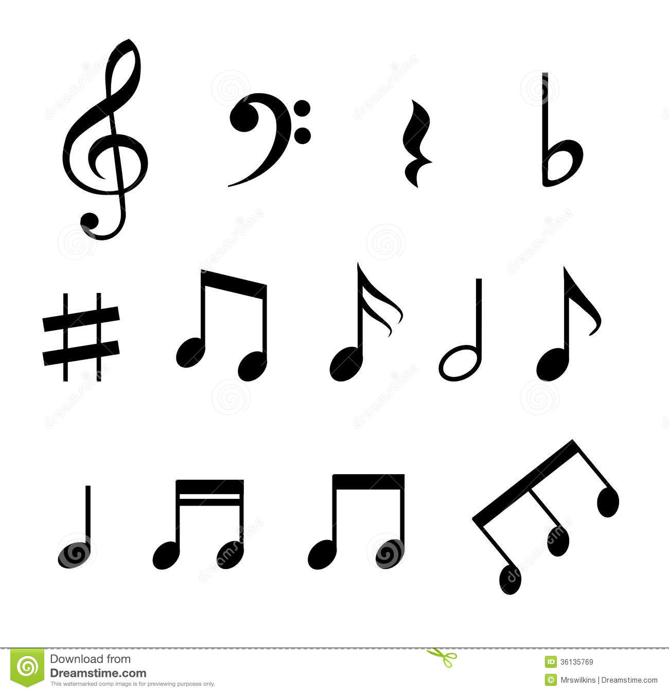 Black Music Note Icon