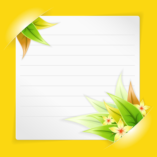 Blank Paper with Design