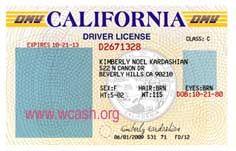 California ID Drivers License Templates
