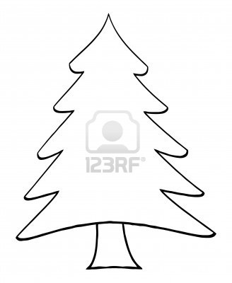 16 Christmas Tree Outline Vector Images