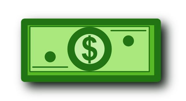 Cartoon Dollar Bill Clip Art