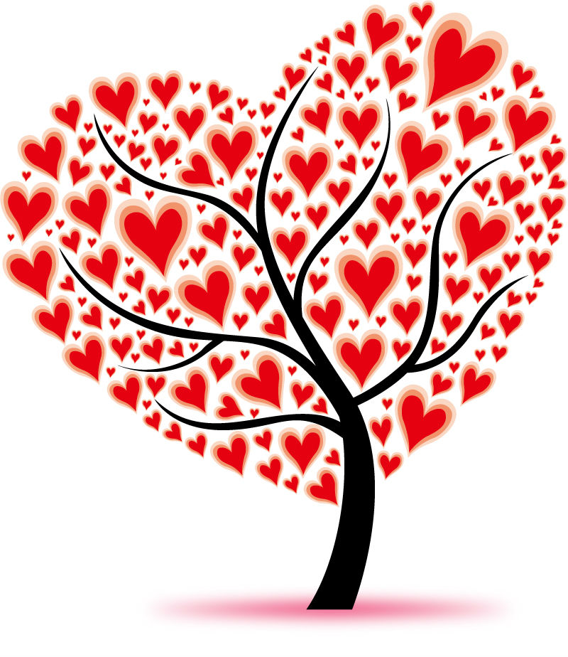 14 Love Tree Vector Images