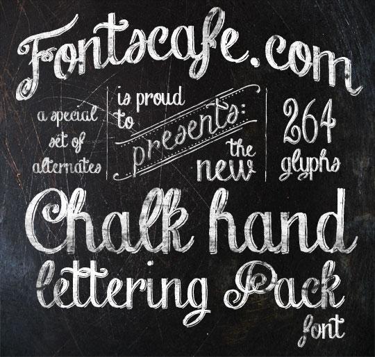 13 Free Cursive Chalkboard Font Images