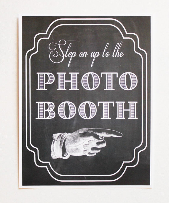 Chalkboard Signs Photo Booths Props