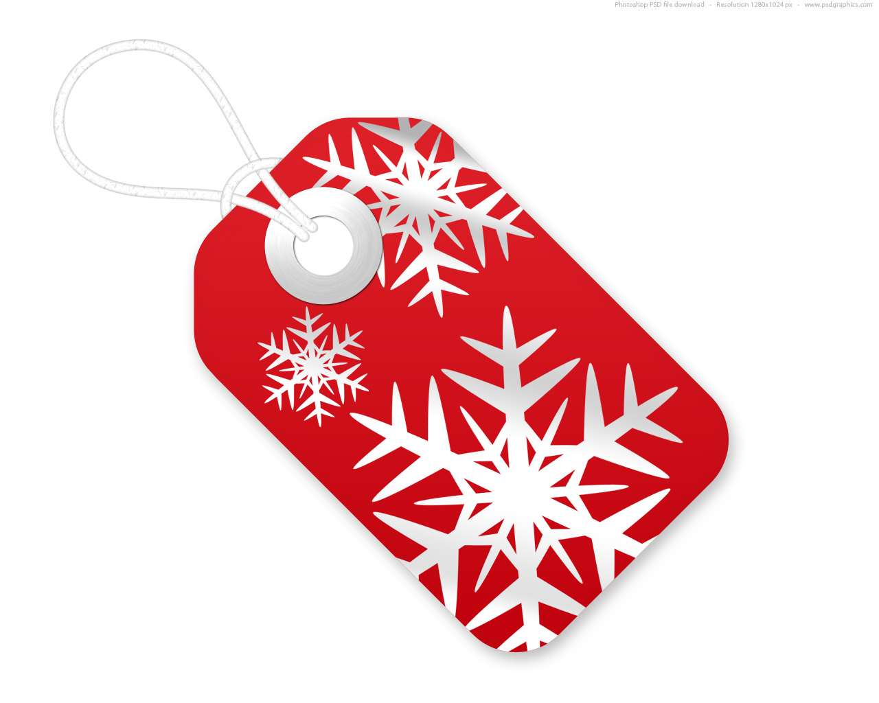 11 Christmas Tag Template PSD Images