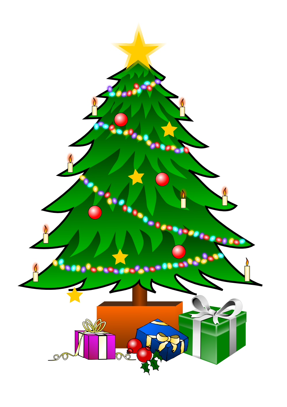 Christmas Tree Graphics Clip Art